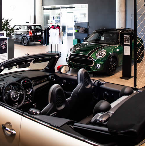Mini car showroom